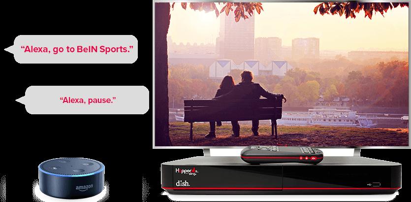 TV manos libres de DISH - Controla tu TV con Alexa de Amazon - Chicago, IL - Nezell Co. - Distribuidor autorizado de DISH